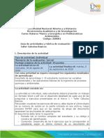 Guia de actividades y Rúbrica de evaluación - Tarea 1 - Taller Calculos Basicos.pdf