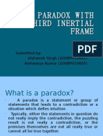 TWIN PARADOX IN THIRD INERTIAL FRAME