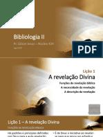 Bibliologia 2 - Lições 1 e 2