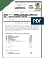 ACTA  DE ENTREGA  COMPLEMENTO  NUTRICIONAL 121