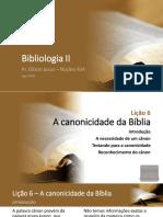 Bibliologia 2 - Lições 6, 7 e 8