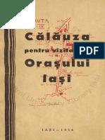 Calauza Pentru Vizitatorii Orasului Iasi (1936)