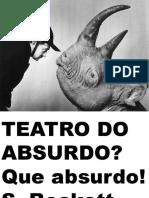ARRUDA, R. K. TEATRO DO ABSURDO Power Point