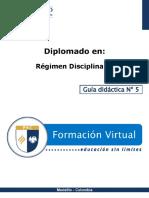 Guia Didactica 5-RD Autoridades Competentes aplicación régimen disciplinario