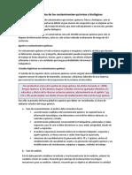 Gestión higiénica de los contaminantes químicos y biológicos