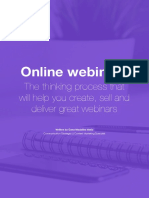 E-book - ONLINE WEBINARS. The thinking process that will help you create,  sell and deliver great webinars (1)