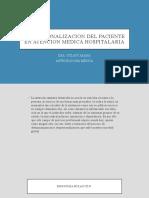DESPERSONALIZACION DEL PACIENTE EN LA ATENCION MEDICA HOSPITALARIA.pptx