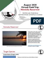 WCAS Virtual Field Trip to Nimisila Reservoir August 2020