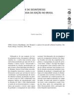 SILVA, Franklin. A Reciprocidade do Desinteresse - Uma Antropologia da Edição no Brasil [RESENHA] Brasilianas de Gustavo Sorá.pdf