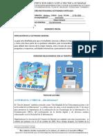 Diseño Institucional Actividades Virtuales No. 3 - Grado 6 - Innovacion - Diego Camargo