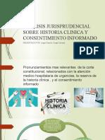 ANALISIS JURISPRUDENCIAL SOBRE HISTORIA CLINICA Y CONSENTIMIENTO INFORMADO