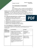 Chapitre II Information et   Communication-converti