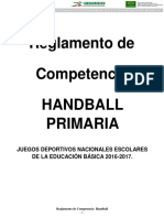 Balonmano - Reglamento torneo infantil