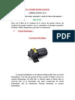 La pompe hydraulique