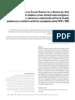 Artículo_Producion critica de Alvaro Barrios en la ReVista