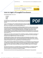 How to Fight a Wrongful Foreclosure - CBS MoneyWatch.com