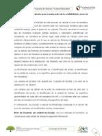 Secuencia de cálculos para la estimación de la confiabilidad y error de muestreo