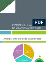 EVALUACION Y VALORACION DE IMPACTOS AMBIENTALES