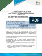 Guia de actividades y Rúbrica de evaluación - Unidad 1 - Fase 2 - Apropiación de hechos históricos y contextuales