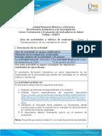 Guía de actividades y rúbrica de evaluación - Unidad 1 - Tarea 2 - Conceptualización de los Indicadores en Salud