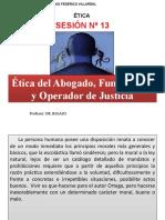 ETICA DEL ABOGADO OPERADOR DE JUSTICIA