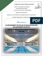 Le depassement des delais de realisation dans les equipements sportifs.pdf
