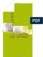 Supplement Lettre 167 LOI VOYNET