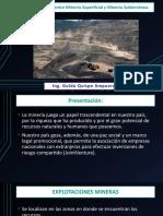 Presentacion N° 4 Diferencias entre Minería Superficial y Minería Subterránea. (1)