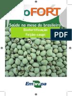 Feijão biofortificado - caderneta
