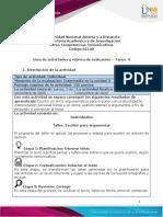 Guía de actividades y rúbrica de actividades - Unidad 3 - Tarea 4 - Escribir para argumentar