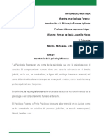 ensayo importancia de la psicologia forense