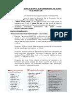 INDICACIONES GENERALES PARA EL BUEN DESARROLLO DEL CURSO DE PLAN LECTOR