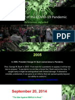 Chronology of the Coronavirus Pandemic