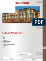 Classification of Hotel