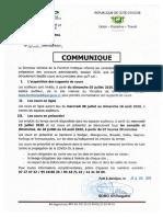 COMMUNIQUE_cours