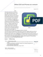 Tutorial Using VMWare ESXi and PFsense as a network firewallrouter