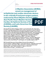 Management of Arrhythmias and Cardiac Electronic Devices in the Critically Ill and Post Surgery Patient