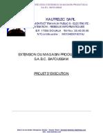DOSSIER D'EXECUTION - PROJET D'EXTENSION DU MAGASIN DE LA S.A.B.C. BAFOUSSAM