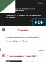 TEMA 09 FLUJO EN TUBERIAS, PERDIDAS PRIMARIAS Y SECUNDARIAS