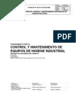 CONTROL Y MANTENIMIENTO DE EQUIPOS DE HIGIENE INDUSTRIAL (modificado)