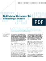 Mckinsey - Rethinking the model for offshoring services