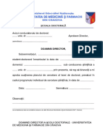 Cereri plan cercetare UMF Craiova