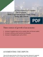 The Role of Government in Economic Development