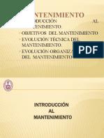 3.- Introducción y Objetivos del Mantenimiento