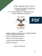 Normas jurídicas que regulan la Responsabilidad Civil en la Legislación peruana