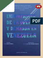 Importancia de la Oferta y Demanda en Venezuela._3er Semestre Fundametal Contaduría._Antony Gutiérrez V-29.618.074