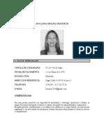 HOJA DE VIDA LUISA MOLINA 2016
