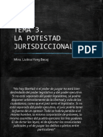TEMA 3. la potestad jurisdiccional