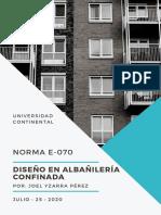 DISEÑO EN ALBAÑILERIA CONFINADA