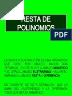 RESTA DE POLINOMIOS.ppt